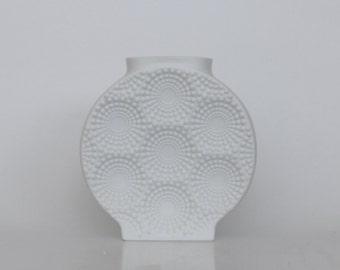 Vintage Bisque Op Art  Vase Round Dots Shape - Kaiser 60s