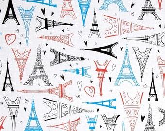 Multi Paris Adventure Eiffel Tower Toss premium cotton fabric - Timeless Treasures Paris Adventure Collection