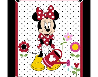 Disney Minnie Mouse Grow Your Own Garden 35 x 44 cotton fabric panel by Springs Creative