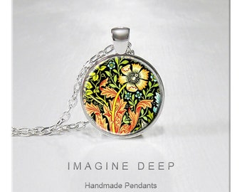 BUY 2 GET 1 FREE Pendant Necklace Yellow Flower Orange High Quality Handmade Silver Copper Pendant - Flower Illustration (049)