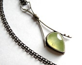 Sterling and Prehnite Necklace - First Spring