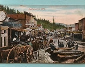 Deadwood SD in 1876 German Postcard Uncirculated