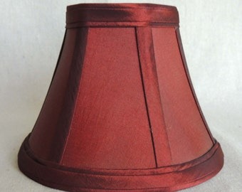 Scarlet Mini Lamp Shade, Mini Lamp Shade, Hand Made Silk Lamp Shade, 3x6x4.5 High, Bell Lamp Shade