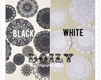 White assorted Doily paper for Scrapbooks, card making, wedding decoration / pack