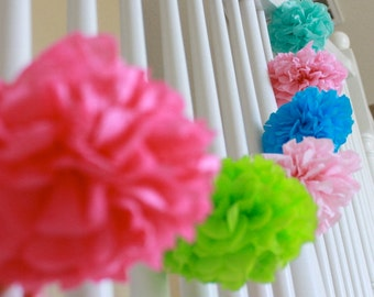 One Large Tissue Pom Decoration - Build your own set - Wedding - Bridal Shower - Birthday - Baby Shower - Nursery Decoration