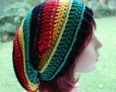 Bob Marley Hat Unisex Rasta Hat Dreadlocks Hat Women Hat Mens Hats Slouchy Hat Oversized Slouch Beanie