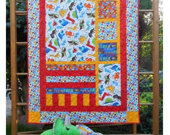 Baby Quilt Pattern -  Forest Frolic - PDF INSTANT DOWNLOAD -  Crib Size with Pillow