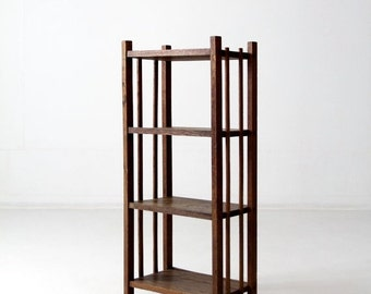 SALE mid-century wood shelf stand, wooden rack, bookshelf