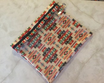 Navajo peak a boo zipper pouch/iPad protector/accessory bag/toiletry bag/ first aid bag