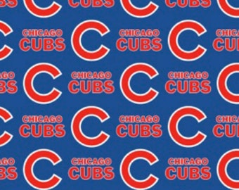 Fabric Traditions - Chicago Cubs - MLB Cotton Fabric by the Yard - 60 Inches Wide - Choose Your Cut