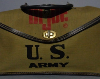 Super RARE, Original,1968,G I JOE, Lunch Kit, Clean, Scarce, Hasbro,Vintage,Canvas,Lunchbox, R9,Made in Japan, Toy Accessory