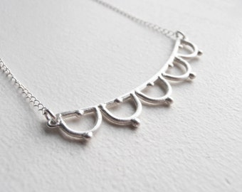 Necklace - handmade sterling silver lace necklace LN06