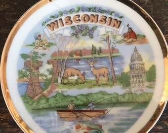 Vintage Wisconsin State Plate
