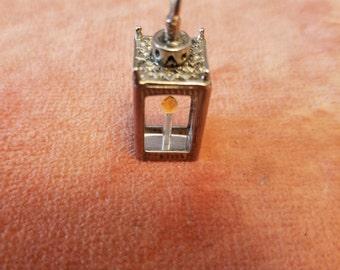 Unique sterling silver lentern light pendant