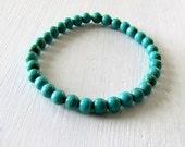 Turquoise Stretch Bracelet Boho Stacking Bracelet Small Beaded Bracelet Stacking Bracelet Beach Jewelry Beach Bracelet Summer Bracelet