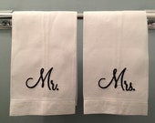 Mr. and Mrs. Guest Towel/Monogrammed White Guest Towel/ Monogrammed Hand Towel/ Personalized Hand Towel/Monogrammed Wedding Gift