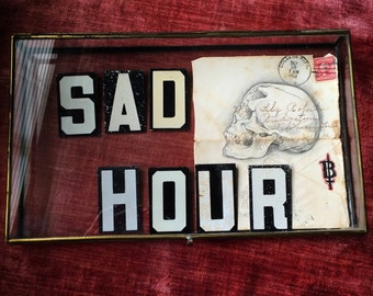 Sad Hour Vintage Metal Sign Letters