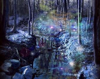 "Photo Print ""Water Sprites"" fairy photography, pagan art, fantasy art, fairy photo, wiccan art, faerie, fairytale, storybook, myth, magic"