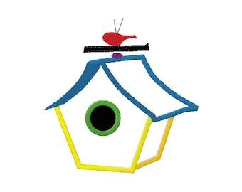 Birdhouse with weathervane