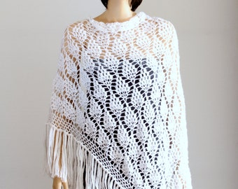 Wedding shawl Wraps shawls Large Shawll White shawl Lace Crochet shawl