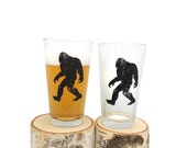 Bigfoot Beer Glasses - Set of two 16oz. Pint Glasses
