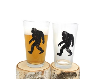 Bigfoot Beer Glasses - Set of two 16oz. Pint Glasses