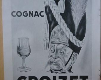 Vintage French Ad Croizet Cognac 1949