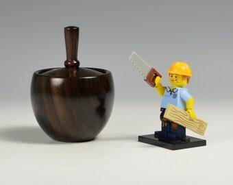 Ebony wooden box, woodturning, gift,