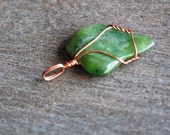 Jade Wire Wrapped Pendant #5678