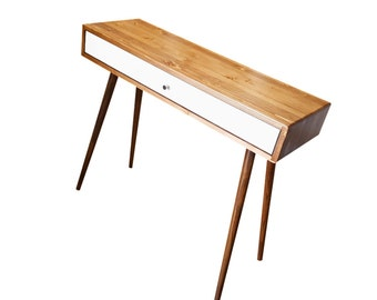 Mid Century Micro Desk with Drawer - MADE TO ORDER