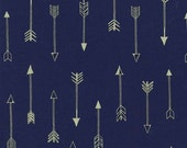 1 Yard Arrows Midnite, Arrow Flight Collection, Michael Miller Fabrics, Quilting Cotton