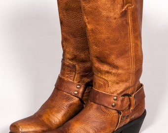 BCBG GIRL Brown Motorcycle Boots Women's Size 8 .5 B