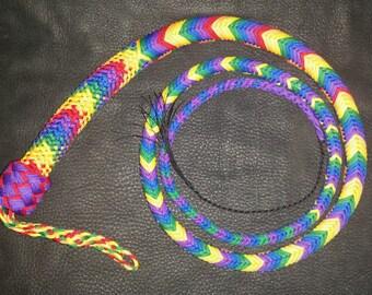 24 Plait LGBT Pride Rainbow Signal Whip - Custom, Choose Your Size