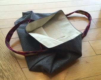 Lined Linen Market Bag Tote