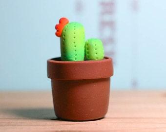 Mini Potted Plant - Cactus Desk Decor