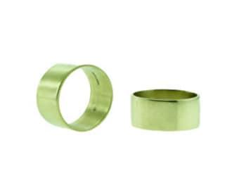Wide world ring 14k gold 7mm