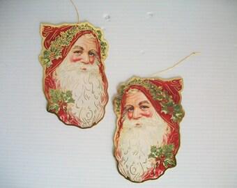 vintage Christmas ornaments . vintage St. Nick . vintage Santa Claus ornaments . vintage ornaments for tree . old St. Nicholas ornaments