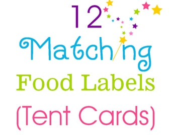 12 Match Food labels