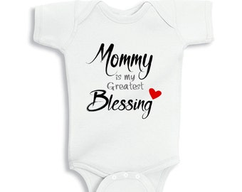 Mommy is my Greatest Blessing Personalized baby bodysuit