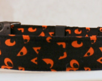 Dog Collar, Martingale Collar, Cat Collar - All Sizes - Haunted Eyes