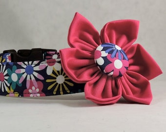 Dog Collar  with Flower - Flowers Aplenty - All Sizes
