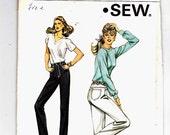 Kwik Sew 1205 Straight Leg Jeans Coin Pocket Sizes 14-16-18-20 Uncut Pattern FF