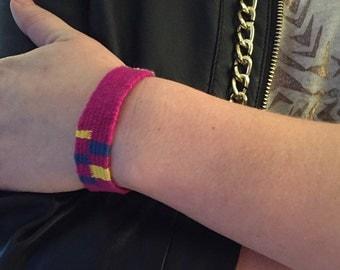 Hand Woven Pink Friendship Bracelet