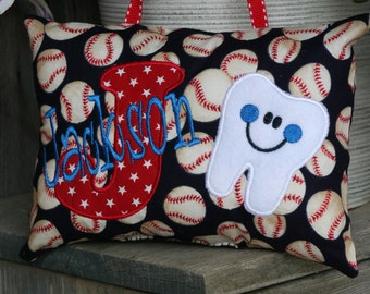 Tooth Fairy Pillow for Boys - Personalized - Baseball