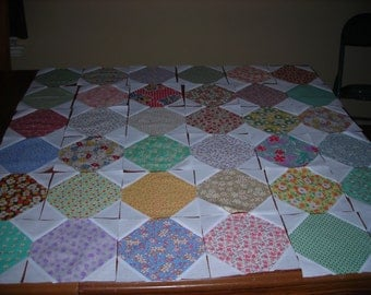 Snowball Quilt Blocks Made With 30's reproduction Fabrics