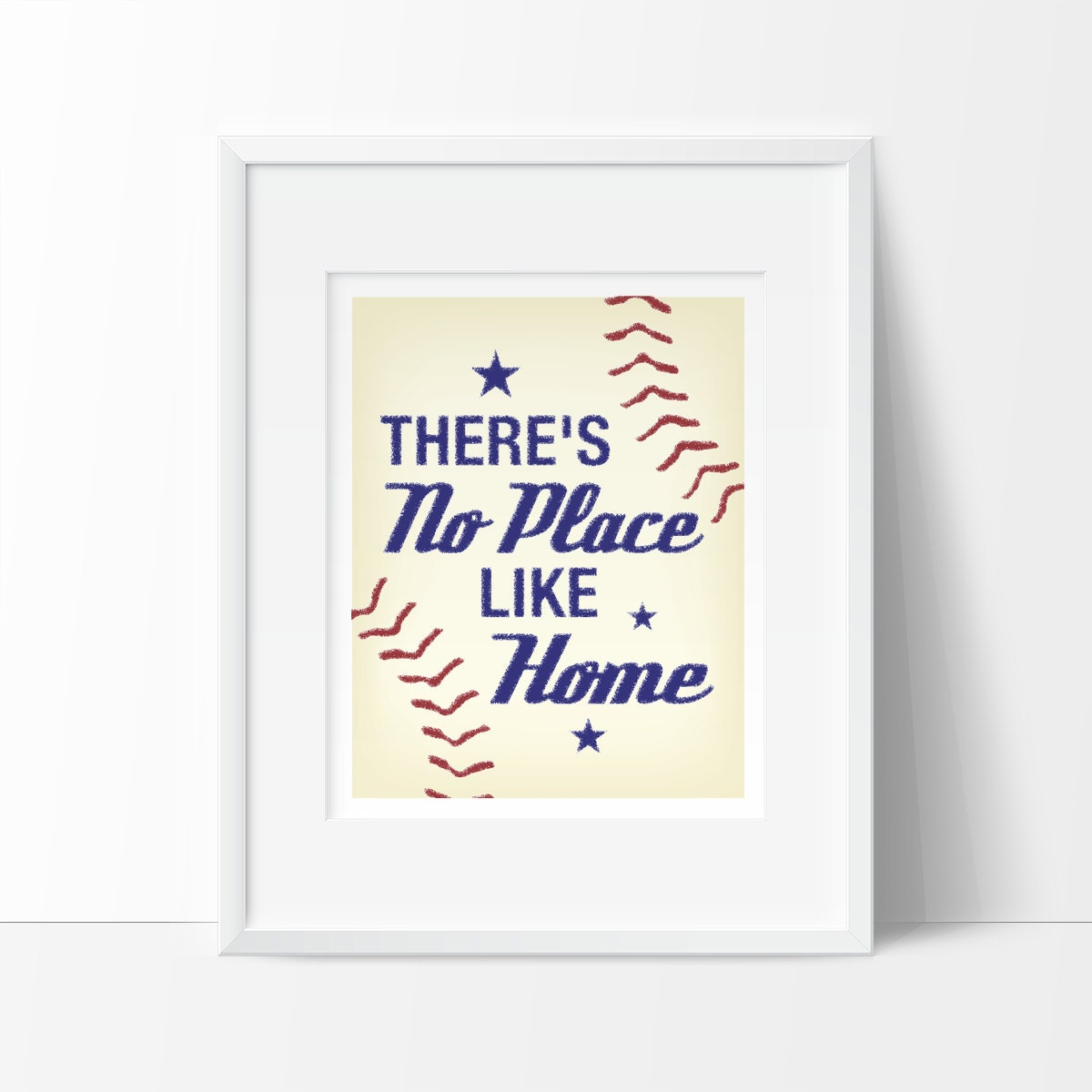 Theres No Place Like Home INSTANT DOWNLOAD Baseball Nursery