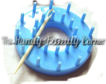 Flower Loom: Round Loom Tool - Shapes for making circular flowers and details. For knitting / crochet / patchwork projects DSH(P4)