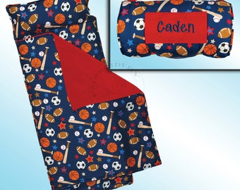 Sports Nap Mat - All Over Printed - Personalized and Embroidered