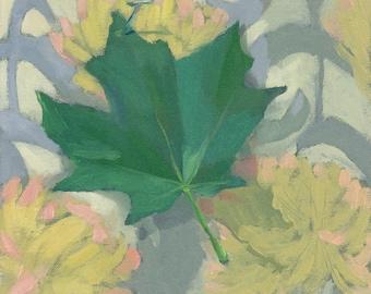 """10x10"""" Leaf Print - """"Maple Leaf"""""""