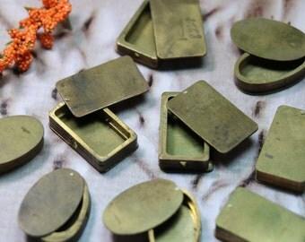 1 Vintage Brass Swiss Watch Case